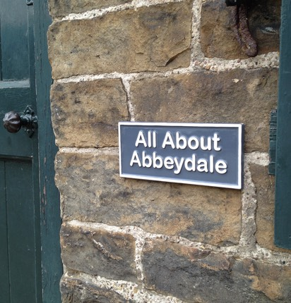 All About Abbeydale name plaque with raised lettering and Braille