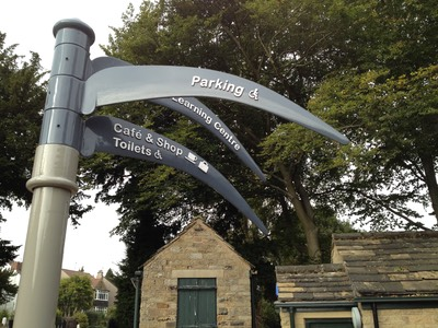 New signposts at Abbeydale Industrial Hamlet, Sheffield