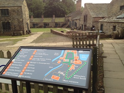 Maps for All tactile plan at Abbeydale Industrial Hamlet