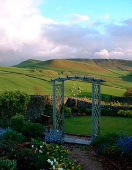 Gorgeous view of the Peak District National Park from our garden